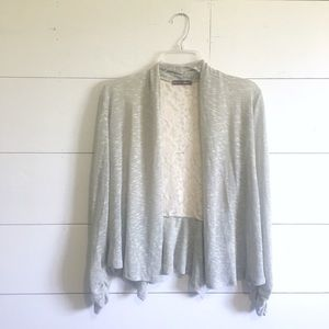 •new• lace back open-front cardigan